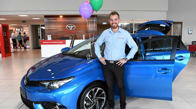 TOYOTA THE WINNER: More Aussies drive a Toyota and Nathan Obst agrees the vehicles are just as popular in the Bundaberg region.