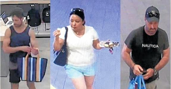 CAN YOU HELP? Police wish to speak with these three people.