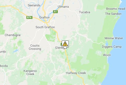 The northbound lane of the Pacific Highway was closed for most of the day due to a truck crash in the early hours of the morning at Glenugie about 11km south of Grafton on Friday, 27th July, 2018.