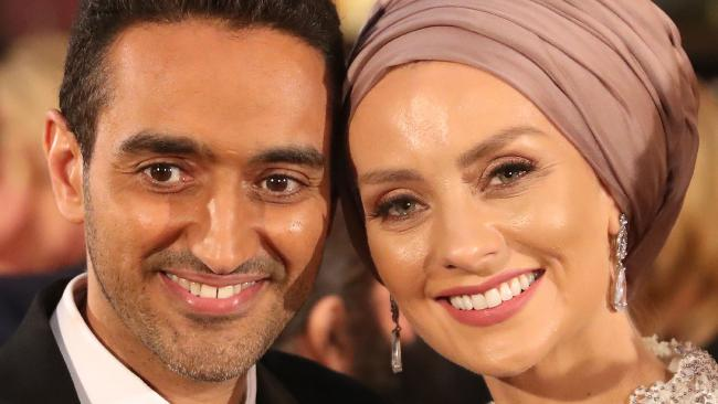 Waleed Aly and Susan Carland arrive at the 59th Annual Logie Awards. Picture: Scott Barbour/Getty Images
