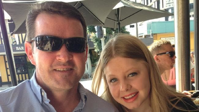 Zoe McGinty with her father, Shaun McGinty.