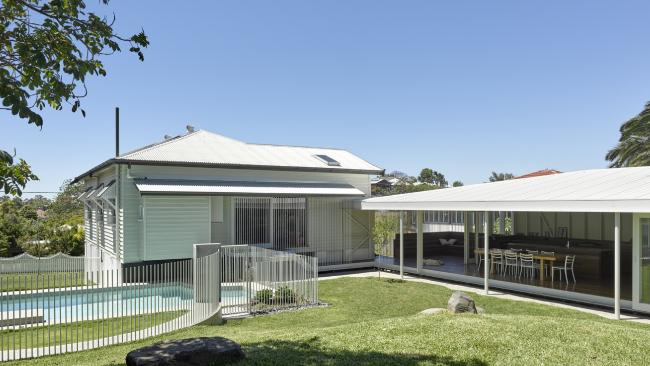 AFTER: Morningside Residence designed by Kieron Gait Architects took out the 2018 Houses Award for House Alteration & Addition over 200 sqm. Picture: Christopher Frederick Jones.