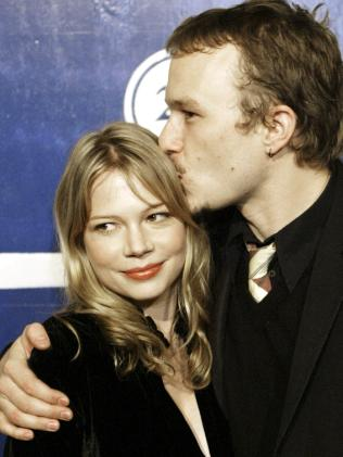 Michelle Williams and Heath Ledger in 2005. Picture: AP