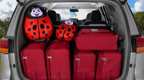 Room to spare: The Carnival can fit a large amount of cargo even with all the seats deployed.