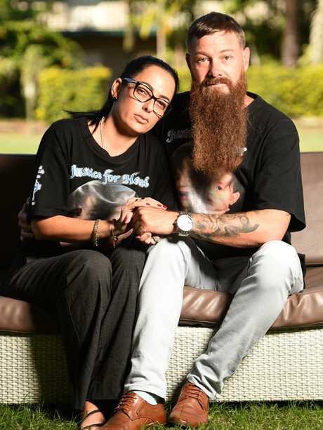 Hemi's parents Kerri-Ann Goodwin and Shane Burke.