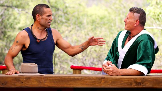 Mundine and Danny Green in the I'm a Celebrity Jungle.