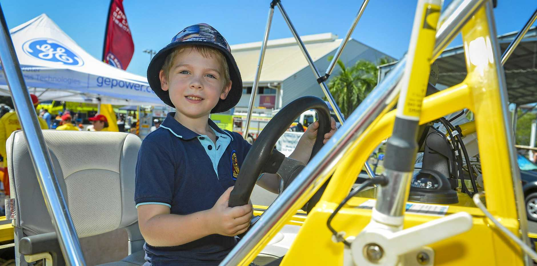 Hayden Pearce at Gladstone PCYC's Emergency Services Open Day earlier this year. Tomorrow is Rockhampton's turn.