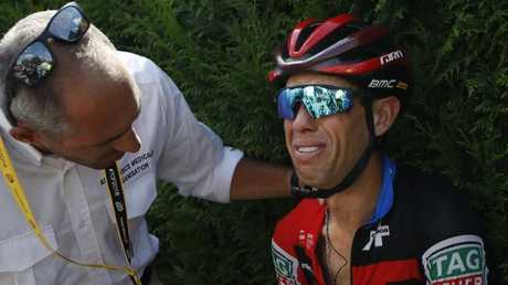 Australia's Richie Porte crashed out early in the Tour
