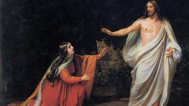 Mary Magdalene (above in 1835 Alexander Ivanov painting) portrayed in popular culture as a prostitute is historically inaccurate.