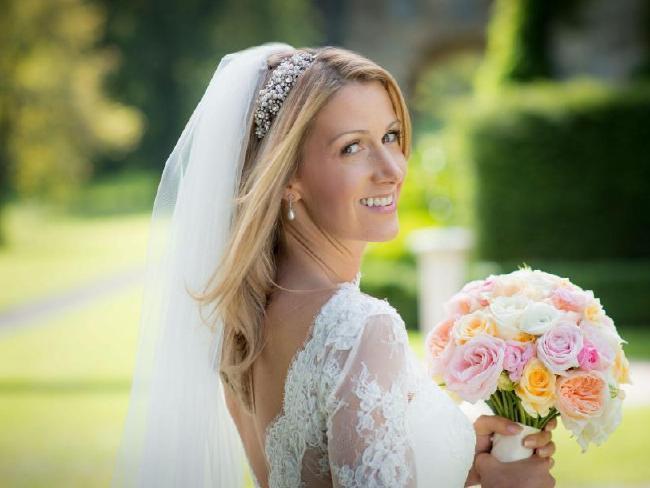 Rachael on her wedding day.