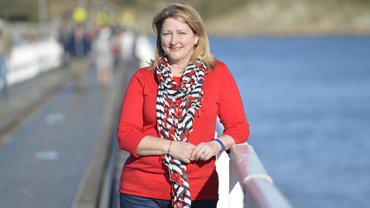 Centre Alliance candidate for Mayo Rebekha Sharkie in Victor Harbor. Picture: AAP Image/David Mariuz.