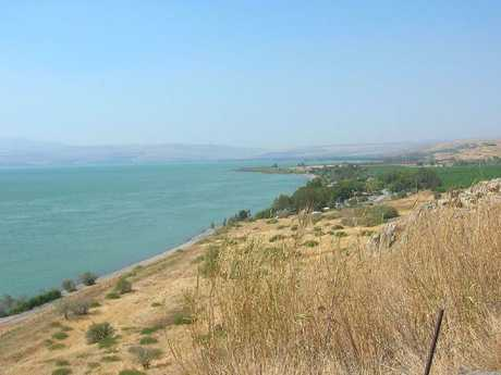 The Sea of Galilee (above) was the centre of Jesus Christ's mission to attract followers.