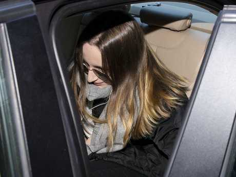 Sarah Ristevski is seen leaving Melbourne Magistrates Court after giving evidence. Picture: Daniel Pockett/AAP