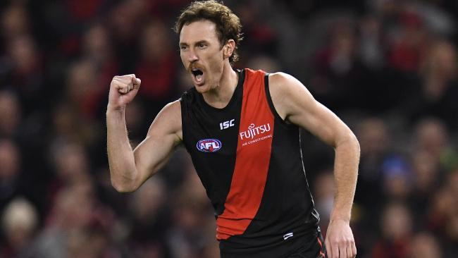 Mitch Brown was one of Essendon's best in his 50th career game. Picture: Julian Smith/AAP