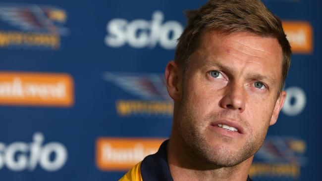 Eagles assistant coach Sam Mitchell is planning to return to Melbourne. Picutre: Paul Kane/Getty Images