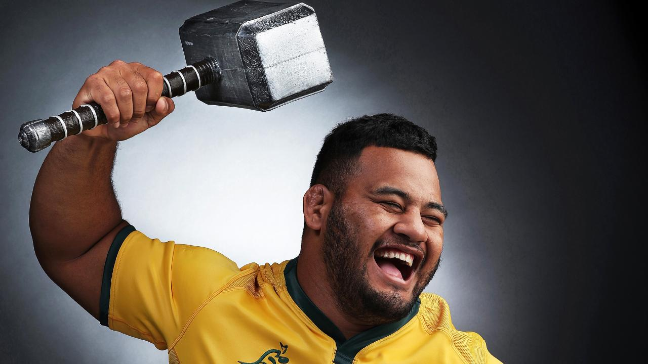 Wallabies cult figure Taniela Tupou, known as 'Tongan Thor'. Picture. Phil Hillyard