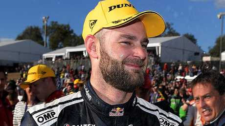 Shane Van Gisbergen (pictured) and Scott McLaughlin are battling for the Supercars championship.