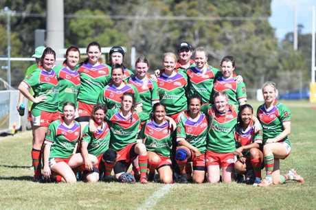 Womens rugby league - Hervey Bay Seagulls team.