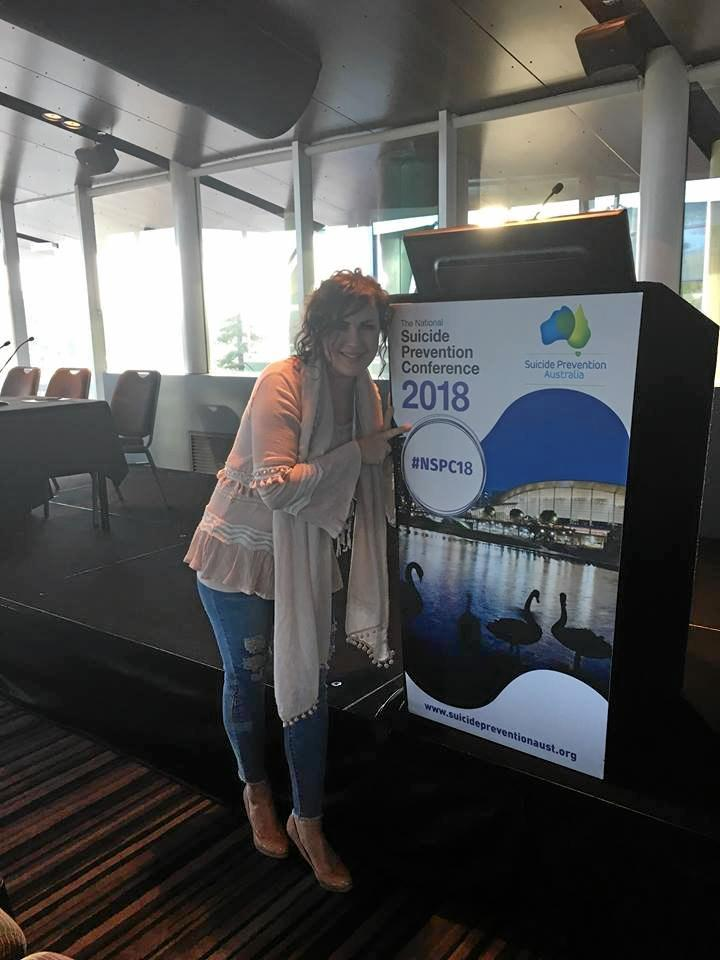 Tracey Gale at the National Suicide Prevention Conference in Adelaide last week.