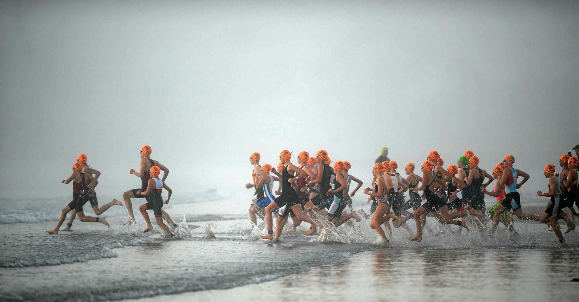 Yeppoon triathlon festival, start of enticer.