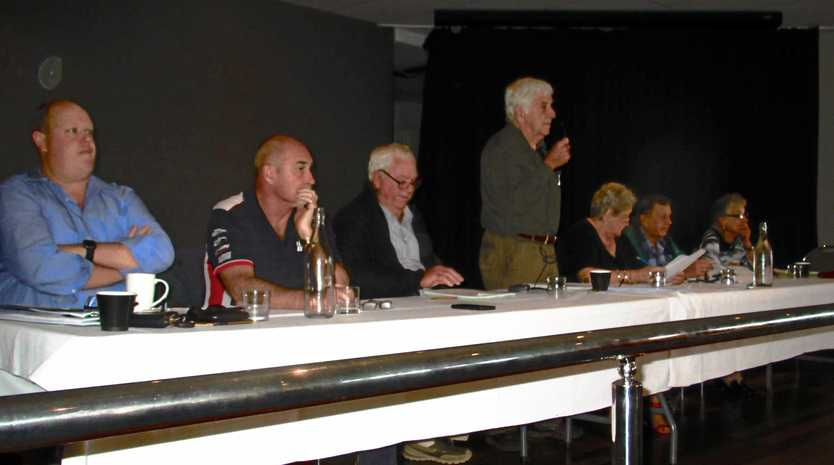 RSL CLUB: Gympie RSL Club committee members face the rank and file at Sunday's special general meeting