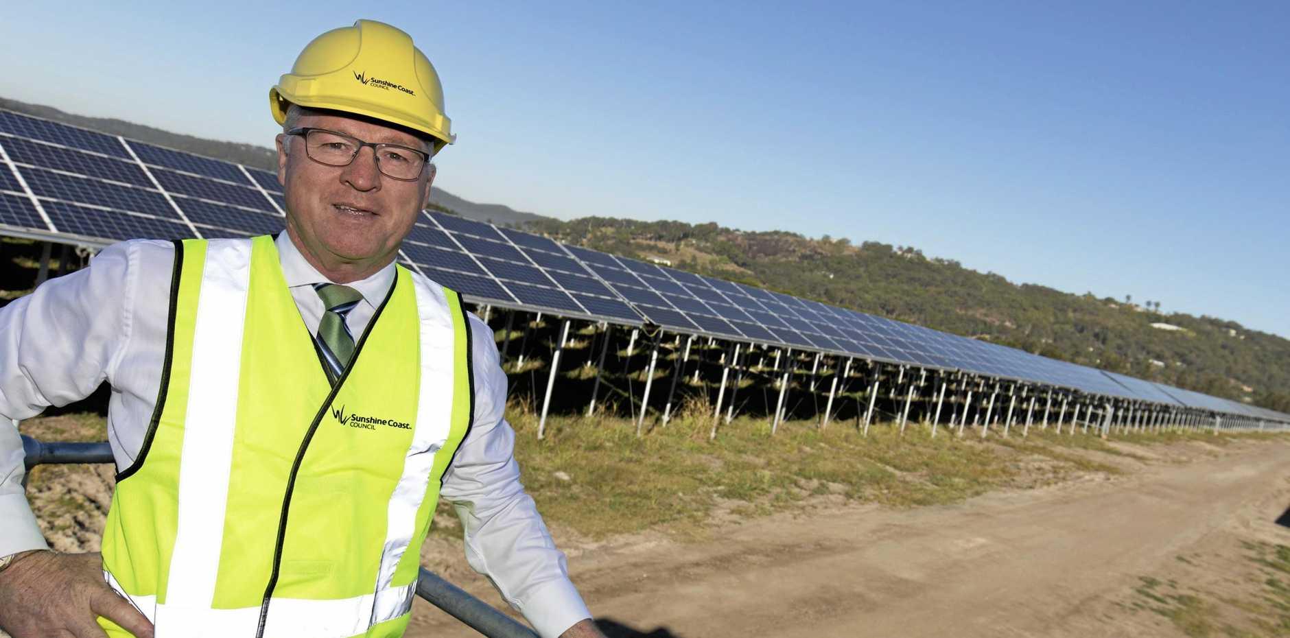 Mayor Mark Jamieson at the Valdora Solar Farm