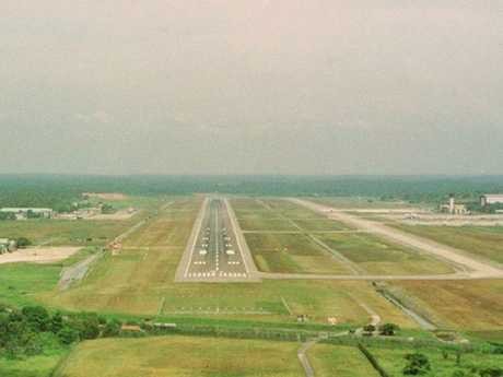 The world's loneliest runway. Picture: Amila Tennakoon