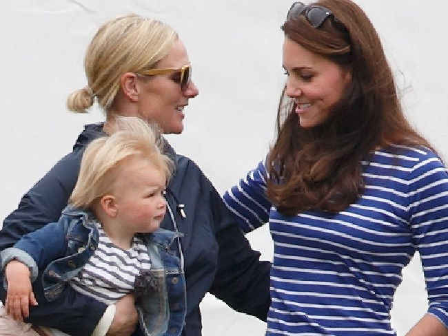 Zara Tindall with daughter Mia Tindall and Catherine, Duchess of Cambridge. Picture: Max Mumby/Indigo/Getty Images