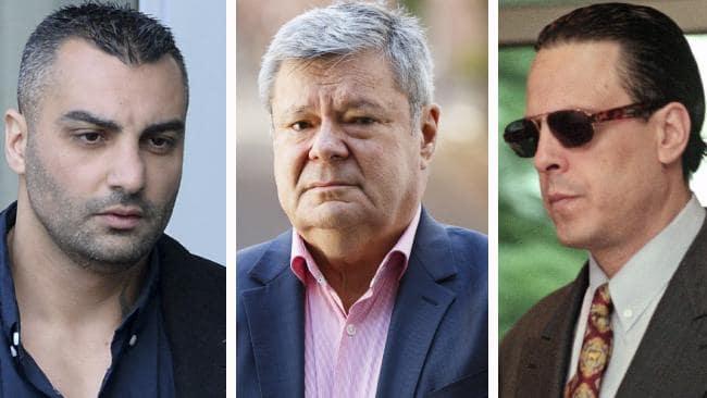 Former bikie boss Mahmoud 'Mick' Hawi, criminal psychologist Dr Tim Watson-Munro, and deceased Melbourne gangster Alphonse Gangitano. Pictures: AAP; Tim Pascoe; Ben Swinnerton