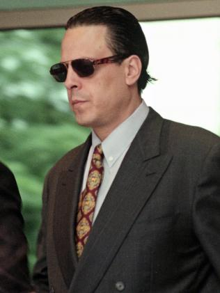 Alphonse Gangitano in 1996 at Melbourne Magistrates Court. Picture: Ben Swinnerton