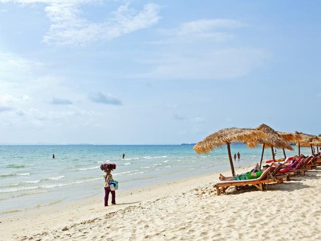 It was once known for this: Ochheuteal Beach in Sihanoukville, Cambodia.