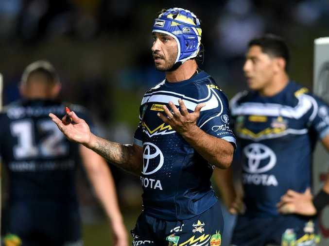 Johnathan Thurston's farewell season has turned into a nightmare. Picture: Alix Sweeney