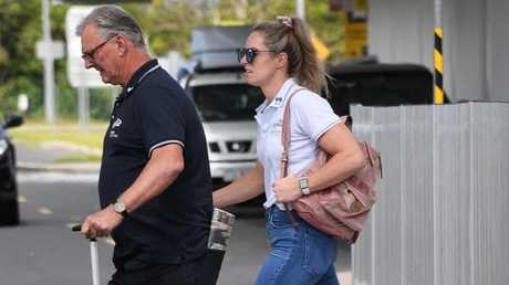 Emily Seebohm at Cairns airport. Picture: Brian Cassey
