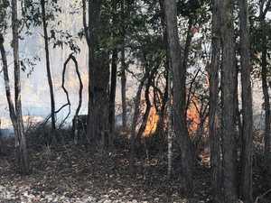 Bushfire destroys crops, crews on scene