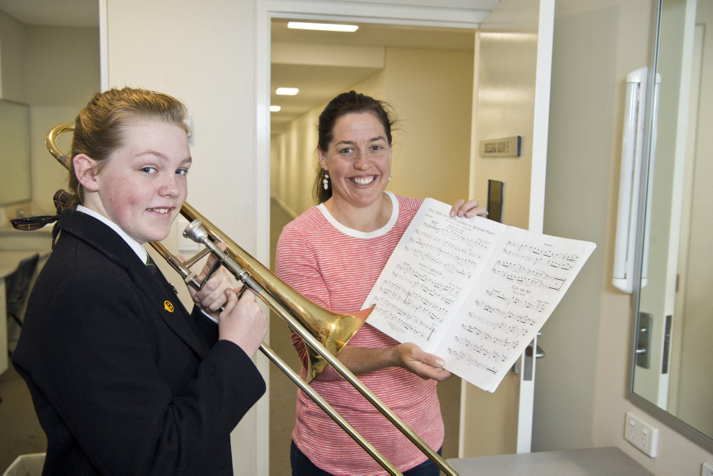 Amelia Webster gets help from mum Elisa Webster before her first performance in the 73rd City of Toowoomba Eisteddfod, Monday, July 30, 2018.