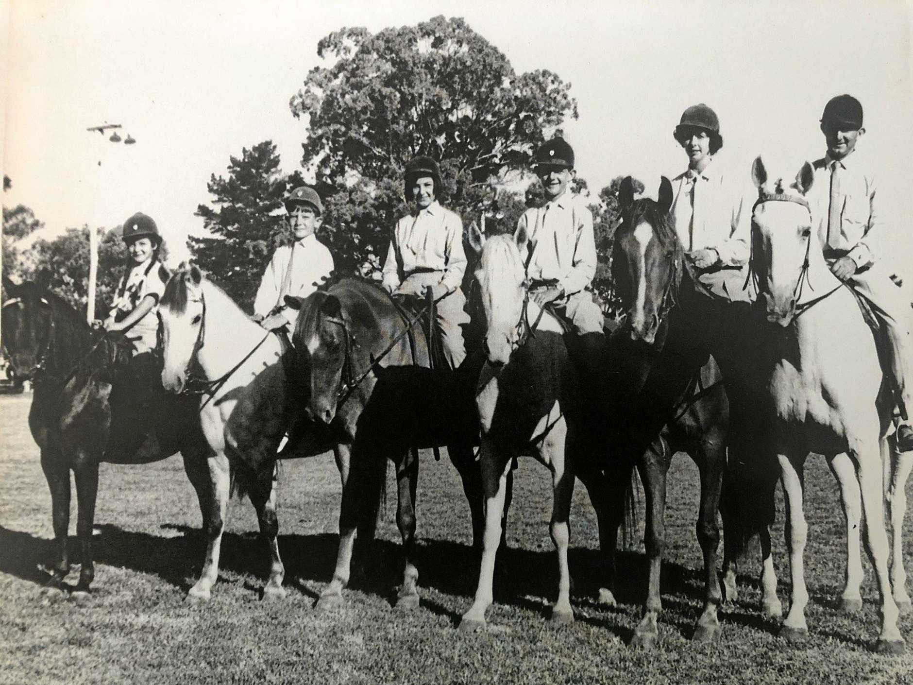 The Bondfield family at the Stanthorpe Show in 1968 (Valerie is second from the right).