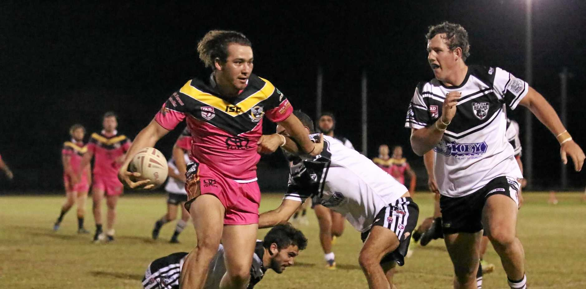 STEP: Daniel Jennings proved a headache for Oakey on Saturday.