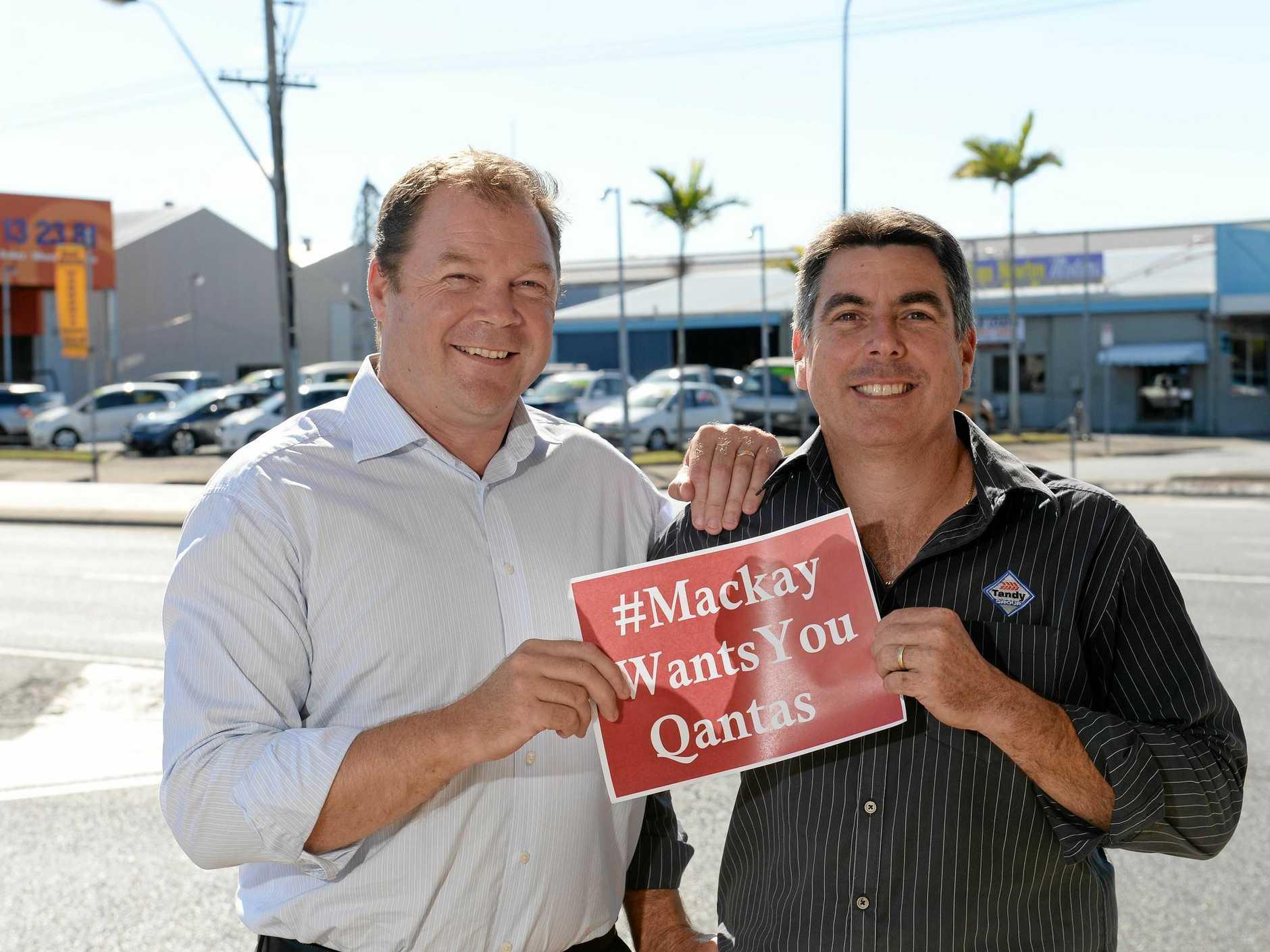 Mackay wants you Qantas. Ben Wearmouth, chief executive of Regional Development Australia and Mitchell Flor, committee member of Regional Development Australia