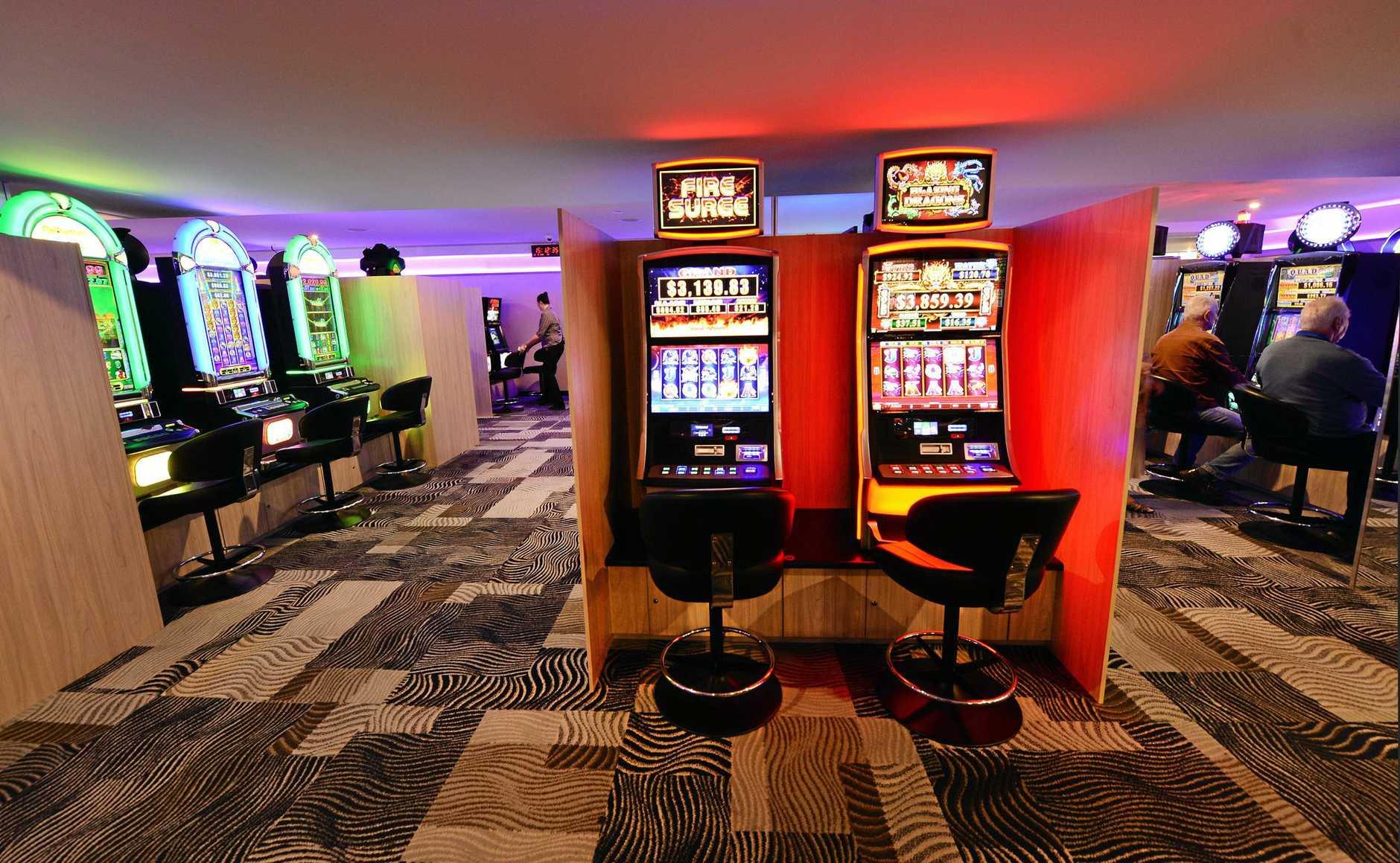CSI (Club Services Ipswich) poker machine gaming area.