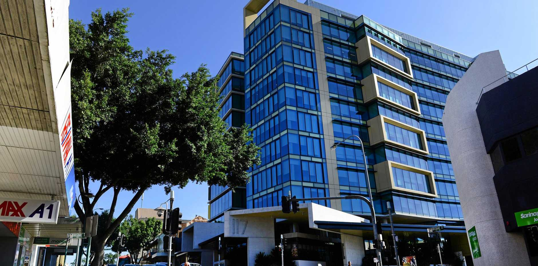PRESSURE: The ICON Tower, opened in 2013, is full of State Government departments and Seqwater.