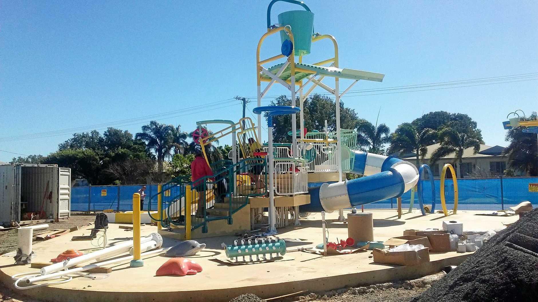 The Proserpine water park was vandalised at the weekend.