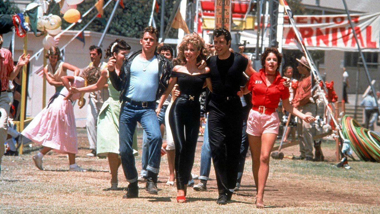 STARS: Jeff Conaway, Olivia Newton-John, John Travolta and Stockard Channing in a scene from the movie Grease.