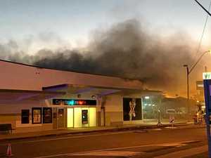 VIDEO: Fire engulfs newsagency in shopping centre