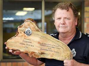 FAREWELL MATE: Sergeant retires after 44 years.