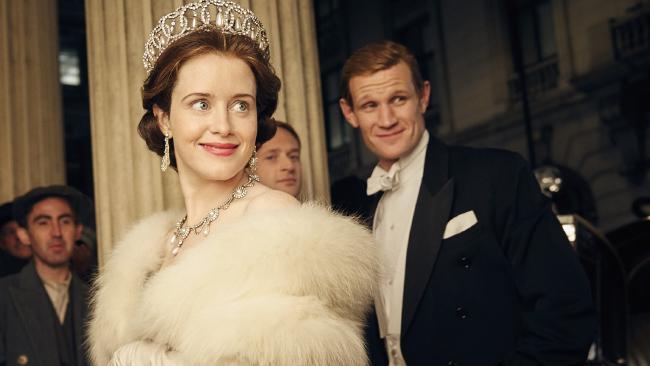 Claire Foy and Matt Smith in The Crown Season 1, Netflix. Picture: Robert Viglasky/Netflix