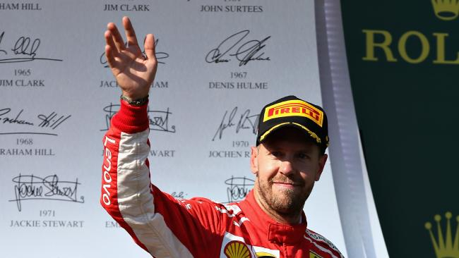 Sebastian Vettel has warned Ferrari are on the improve. (Photo by Charles Coates/Getty Images)
