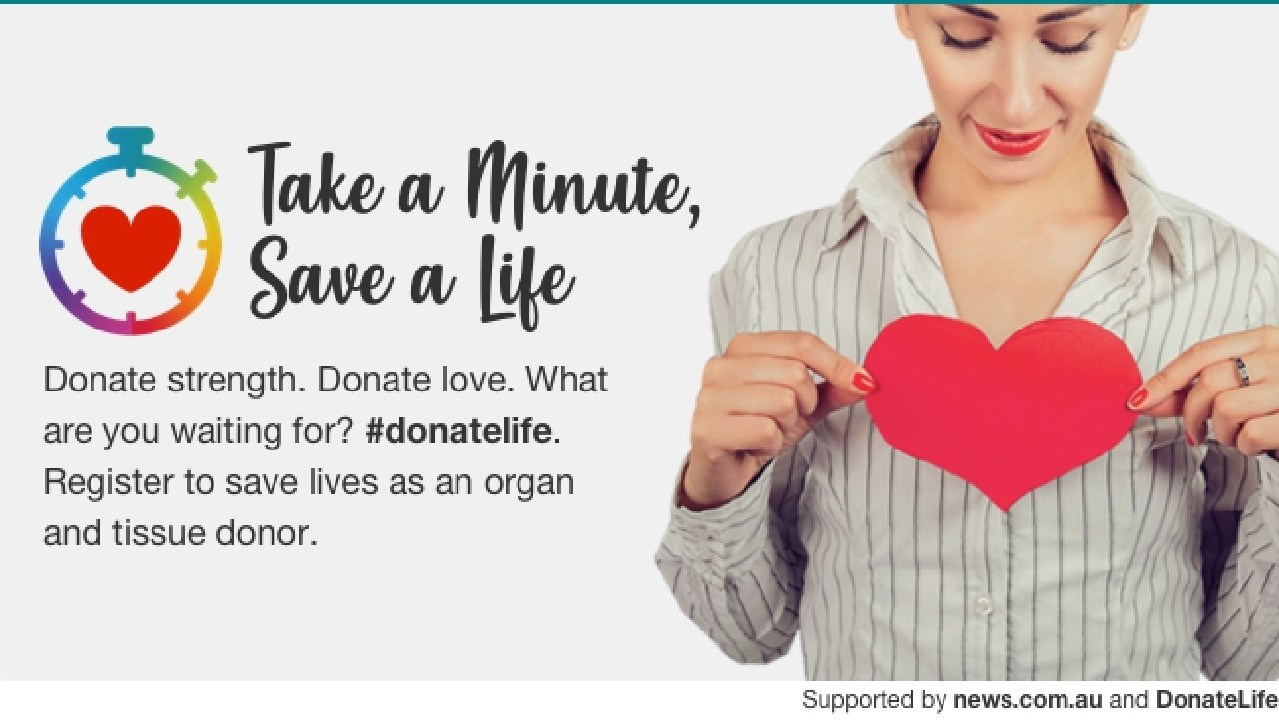 News.com.au is supporting DonateLife Week.