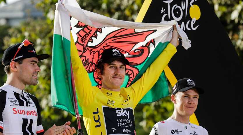 In the end, nobody could stop the Welshman Geraint Thomas. Picture:  Thomas Samson/AFP