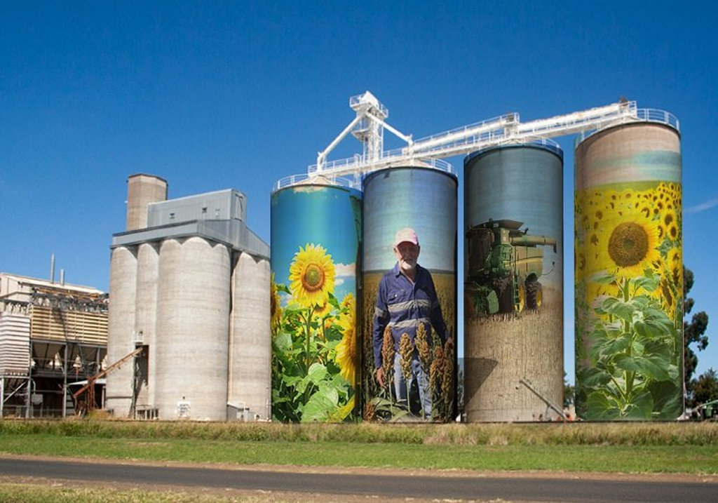 An artist's mock-up of what the Graincorp Silos at Clifton could look like in the future.