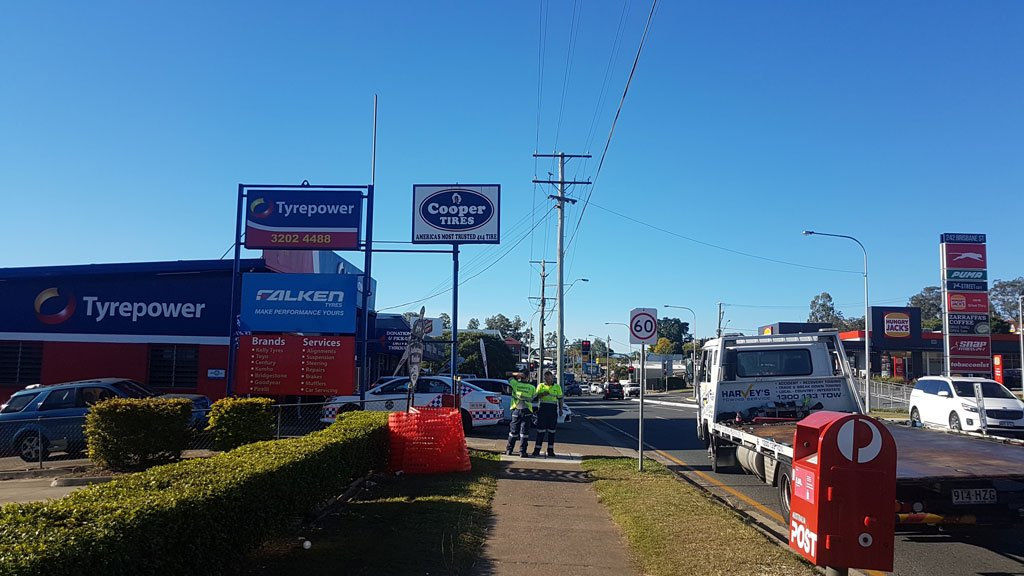 Motorists should avoid Brisbane St at West Ipswich if possible.